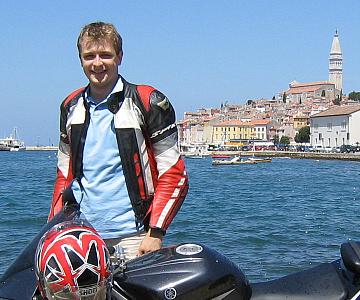 A szerző Rovinjban, 2007. nyarán